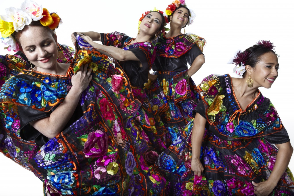 Calpulli Mexican Dance Company, Mexican folkloric dance company from New York.  Photo: Julieta Cervantes