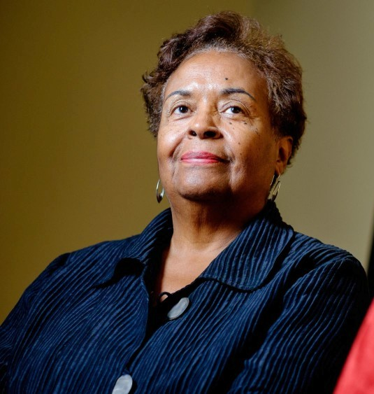 Joyce Ladner, a sociologist and author who participated in the civil rights movement in Mississippi in the 1960s, is seen at her home in Washington, DC on September 12, 2014. Ladner said that it seems like the country has lost some of the progress made in the civil rights movement. But she is still optimistic about the power of the latest generation of activists to effect change on a level similar to the civil rights movement of the 1960s.