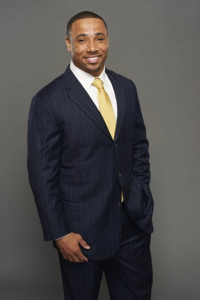 FOOTBALL NIGHT IN AMERICA -- Pictured: Rodney Harrison -- Photo by: Virginia Sherwood/NBC